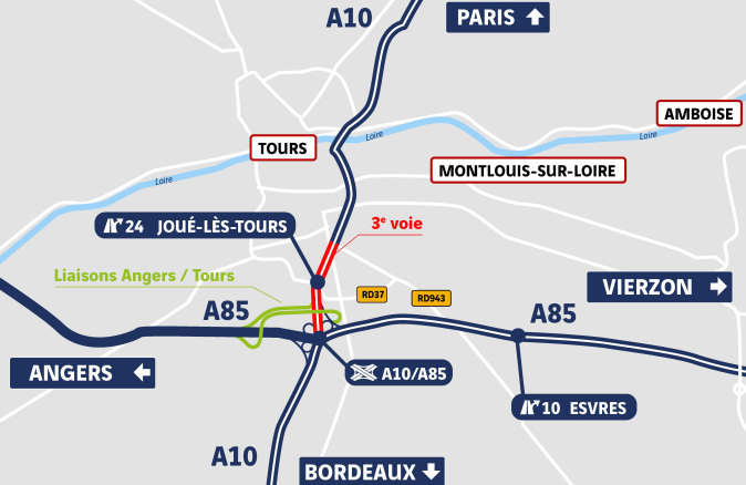 Carte Angers Tours
