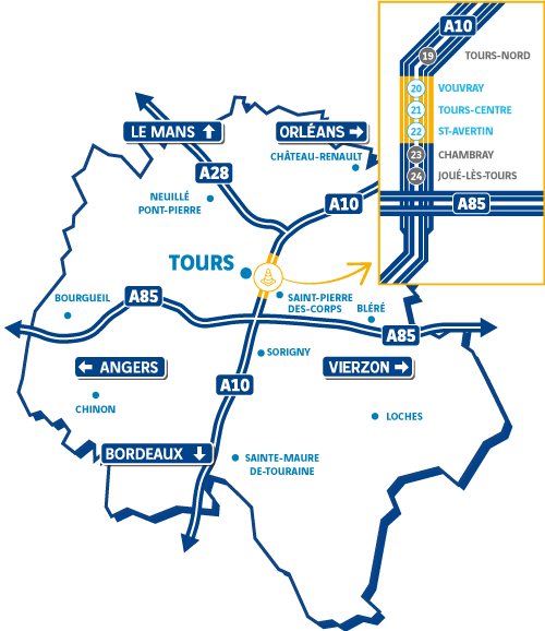 Plan de situation A10 Tours